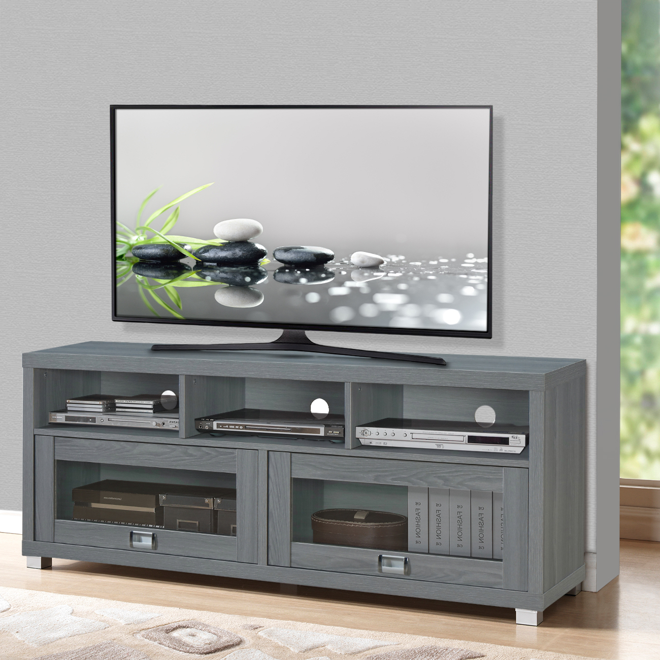 """Millen Tv Stands For Tvs Up To 60"""" With Well Known Flat Screen Tv Stand Up To 75 Inch 50 55 60 65 70 55in (View 21 of 25)"""