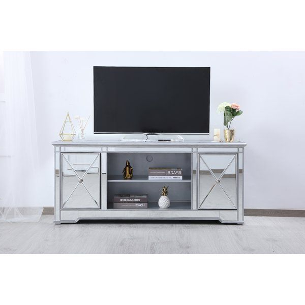 Mirror Tv Stand, Tv With Fitzgerald Mirrored Tv Stands (View 6 of 25)