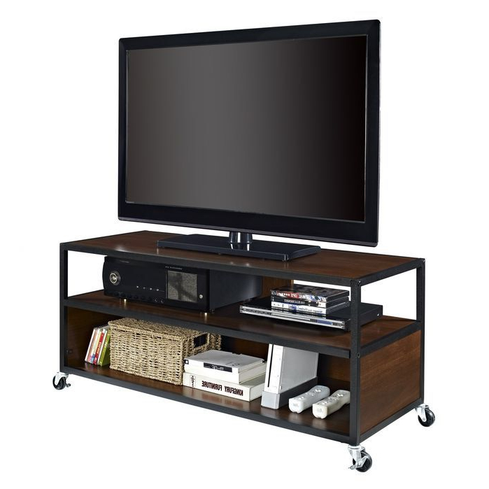 Mobile Tv Stand, Tv Intended For Modern Black Tv Stands On Wheels (View 6 of 10)