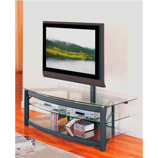 """Modern Mobile Rolling Tv Stands With Metal Shelf Black Finish Throughout Most Current Entertainment Furniture – 60"""" Wide Matte Black Tv Console (View 4 of 10)"""
