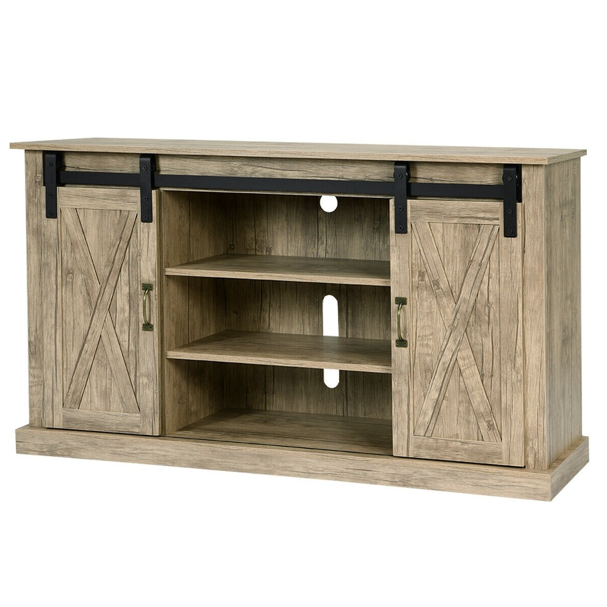 Modern Sliding Door Tv Stands With Current Modern Sliding Barn Door 54 Inch Tv Cabinet Stand, Tv (View 10 of 10)