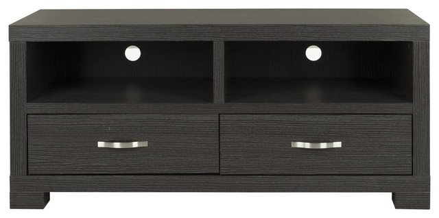 Monroe 2 Drawer Tv Cabinet – Dark Grey/ Charcoal Pertaining To Widely Used Scandi 2 Drawer Grey Tv Media Unit Stands (View 1 of 10)