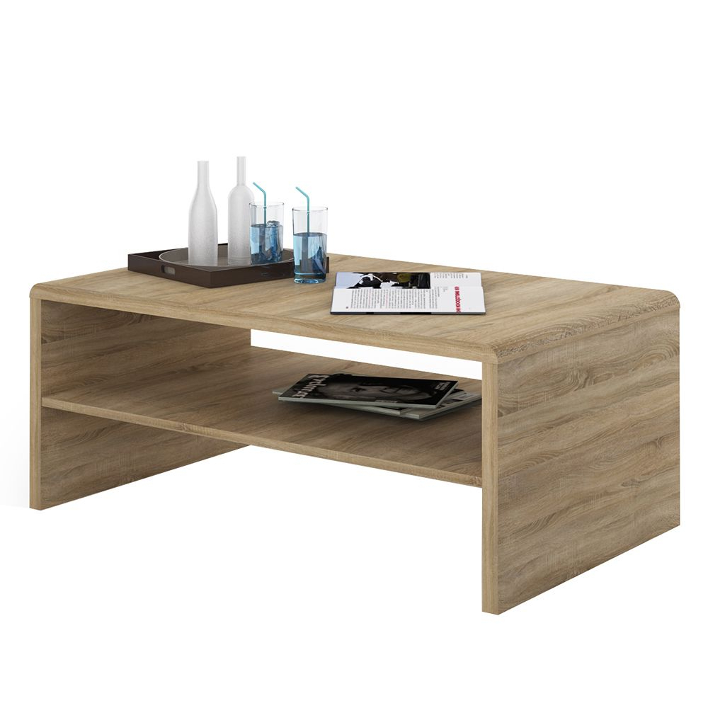 Most Current 4 You Wide Coffee Table Tv Unit In Sonama Oak Inside Tiva Ladder Tv Stands (View 4 of 10)