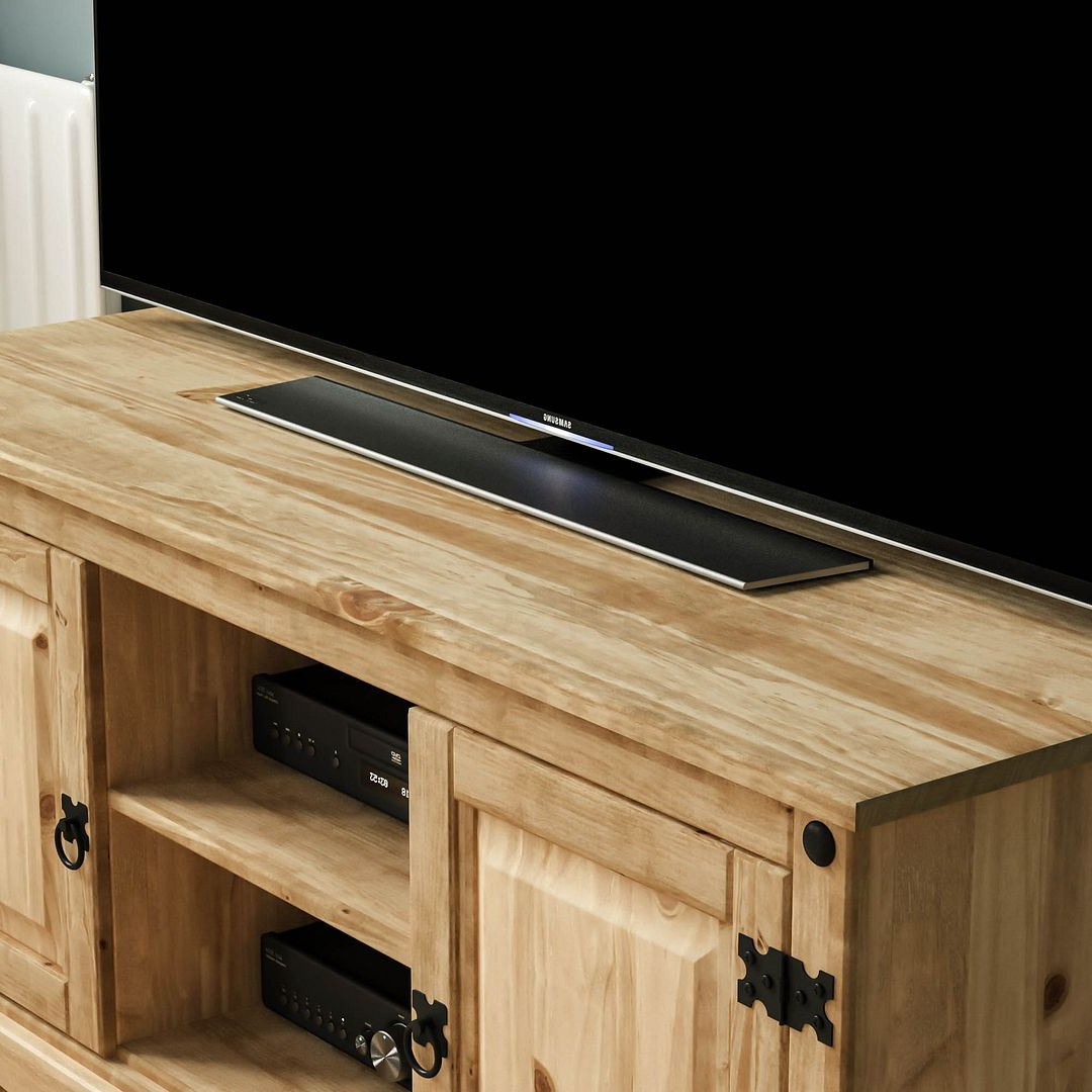 Most Current Corona Panama Tv Cabinet Media Dvd Unit Solid Pine Wood With Regard To Panama Tv Stands (View 17 of 25)