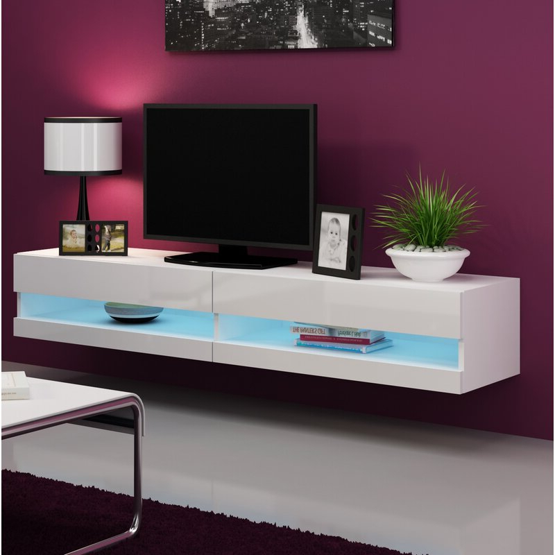 """Most Current Grandstaff Tv Stands For Tvs Up To 78"""" Within Orren Ellis Ramsdell Floating Tv Stand For Tvs Up To  (View 15 of 25)"""
