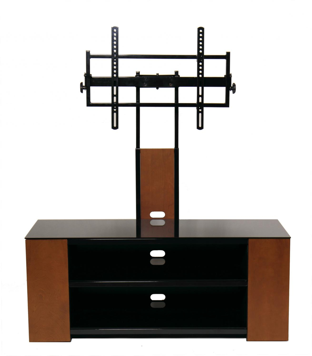 Most Current Modern Mobile Rolling Tv Stands With Metal Shelf Black Finish Inside Versatile Tv Stand With Multimedia Storage Cabinet For Up (View 8 of 10)