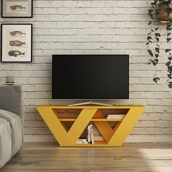 """Most Current Oglethorpe Tv Stands For Tvs Up To 49"""" With Regard To Ebern Designs Simonetti Tv Stand For Tvs Up To  (View 19 of 25)"""