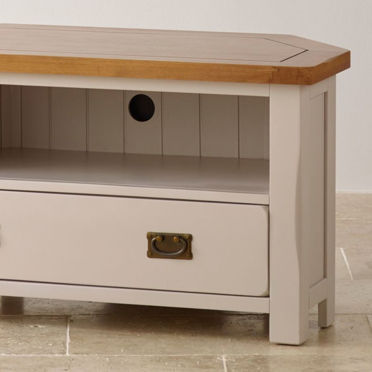 Most Current Painted Corner Tv Cabinet In Rustic Oak (View 3 of 25)