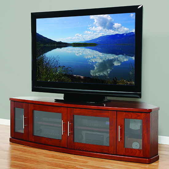 """Most Current Plateau Newport62w Corner Tv Stand Up To 70"""" Tvs In Walnut Regarding Broward Tv Stands For Tvs Up To 70"""" (View 6 of 25)"""