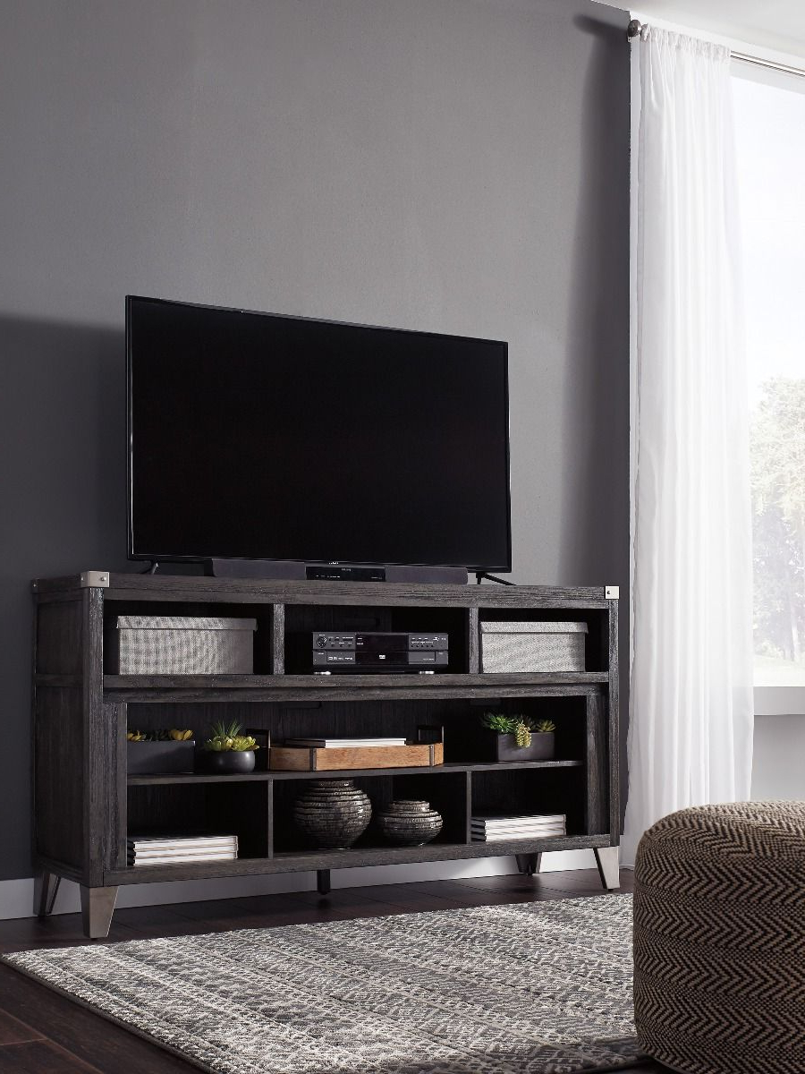Most Current Todoe Gray Tv Stand With Optional Fireplace Insert Regarding Delphi Grey Tv Stands (View 23 of 25)