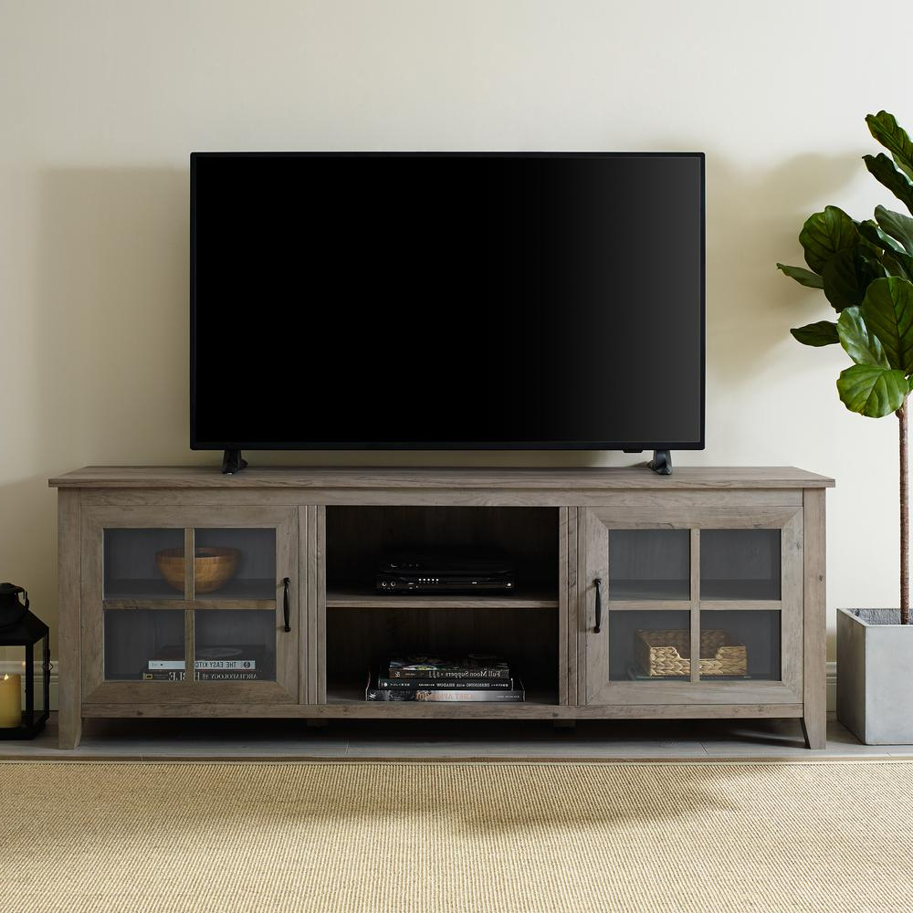 Most Current Walker Edison Wood Tv Media Storage Stands In Black For Walker Edison Furniture Company 70 In (View 7 of 10)