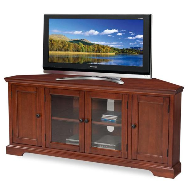 Most Current Westwood Cherry 60 Inch Corner Tv Console – 16100896 Throughout Bromley Oak Corner Tv Stands (View 8 of 10)