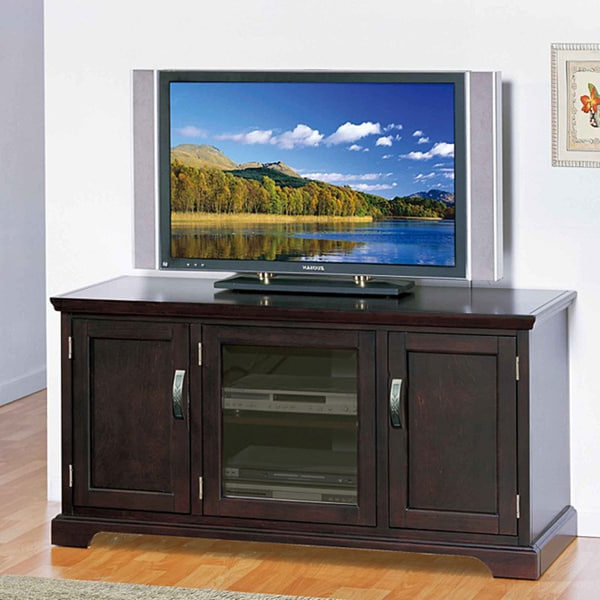 """Most Popular Allegra Tv Stands For Tvs Up To 50"""" Intended For Shop Chocolate Bronze 50 Inch Tv Stand & Media Console (View 11 of 25)"""