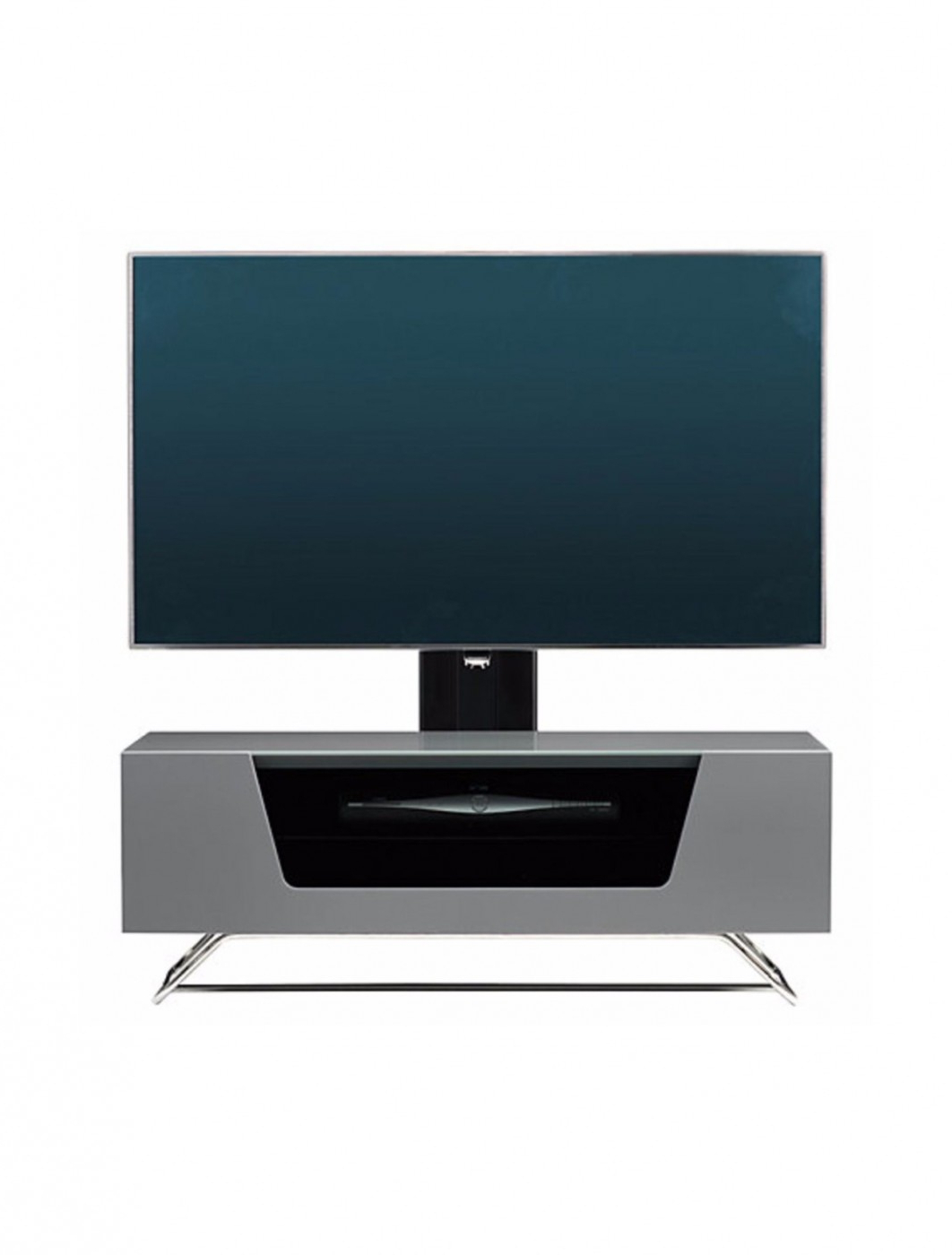 Most Popular Alphason Chromium Cantilever Tv Stand Cro2 1200bkt Gr Intended For Chromium Tv Stands (View 10 of 25)