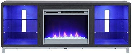 """Most Popular Amazon: Ameriwood Home Lumina Fireplace Stand For Tvs Intended For Ameriwood Home Rhea Tv Stands For Tvs Up To 70"""" In Black Oak (View 8 of 10)"""