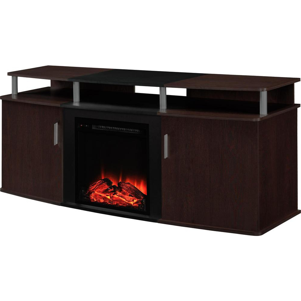 Most Popular Ameriwood Home Carson Tv Stands With Multiple Finishes For Ameriwood Home Cherry And Black Winsdsor 70 In (View 7 of 10)