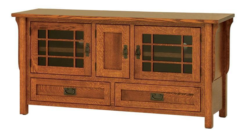 Most Popular Amish Lancaster Mission Tv Stand With Three Doors With Lancaster Corner Tv Stands (View 8 of 10)