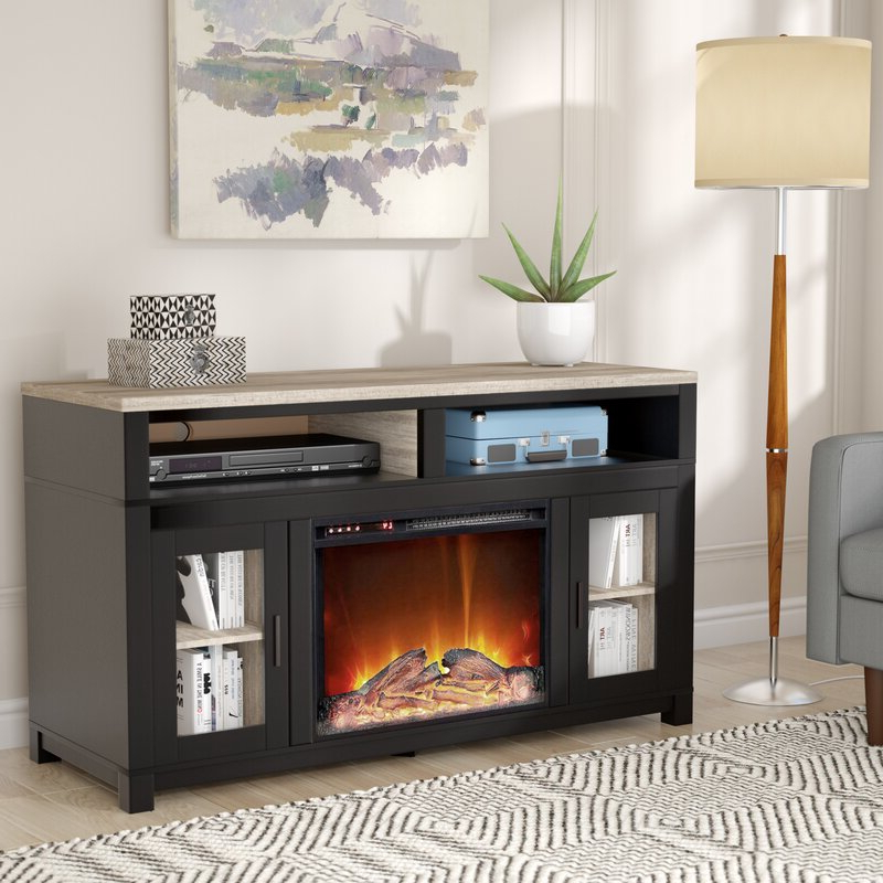 """Most Popular Andover Mills Zahara Tv Stand For Tvs Up To 60"""" With With Lorraine Tv Stands For Tvs Up To 60"""" With Fireplace Included (View 8 of 25)"""