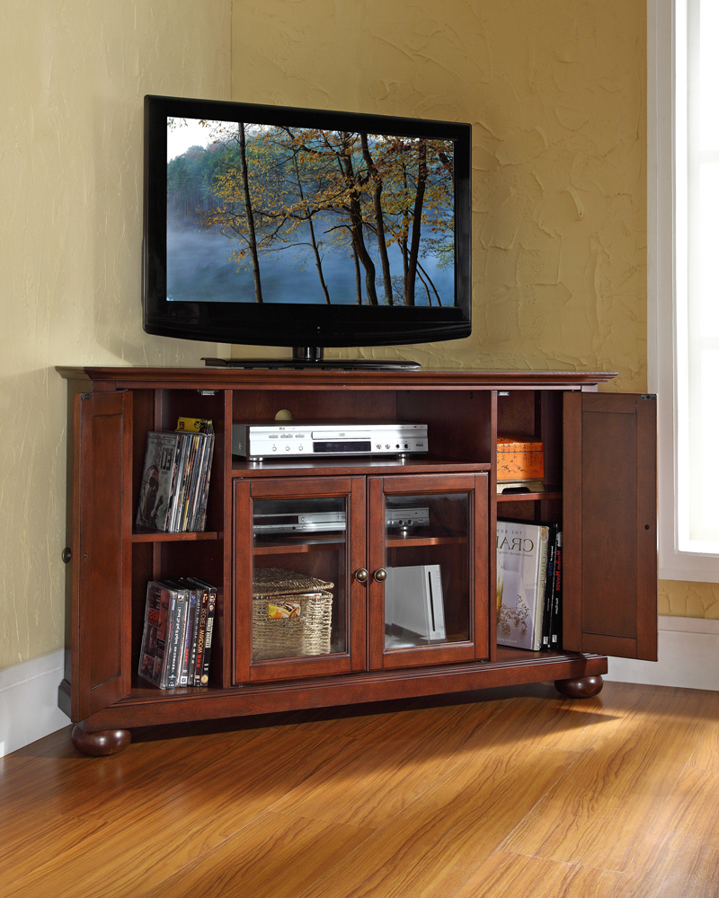 """Most Popular Crosley Furniture – Alexandria 48"""" Corner Tv Stand In Pertaining To Hex Corner Tv Stands (View 24 of 25)"""