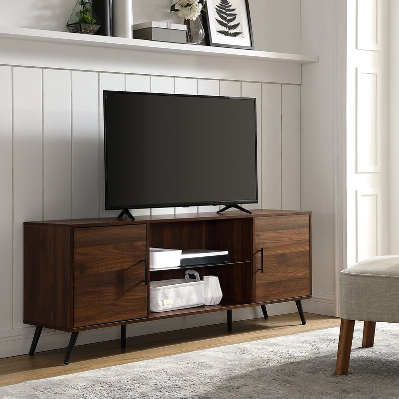 """Most Popular George Oliver Glenn Tv Stand For Tvs Up To 65"""" & Reviews Throughout Oliver Wide Tv Stands (View 1 of 10)"""