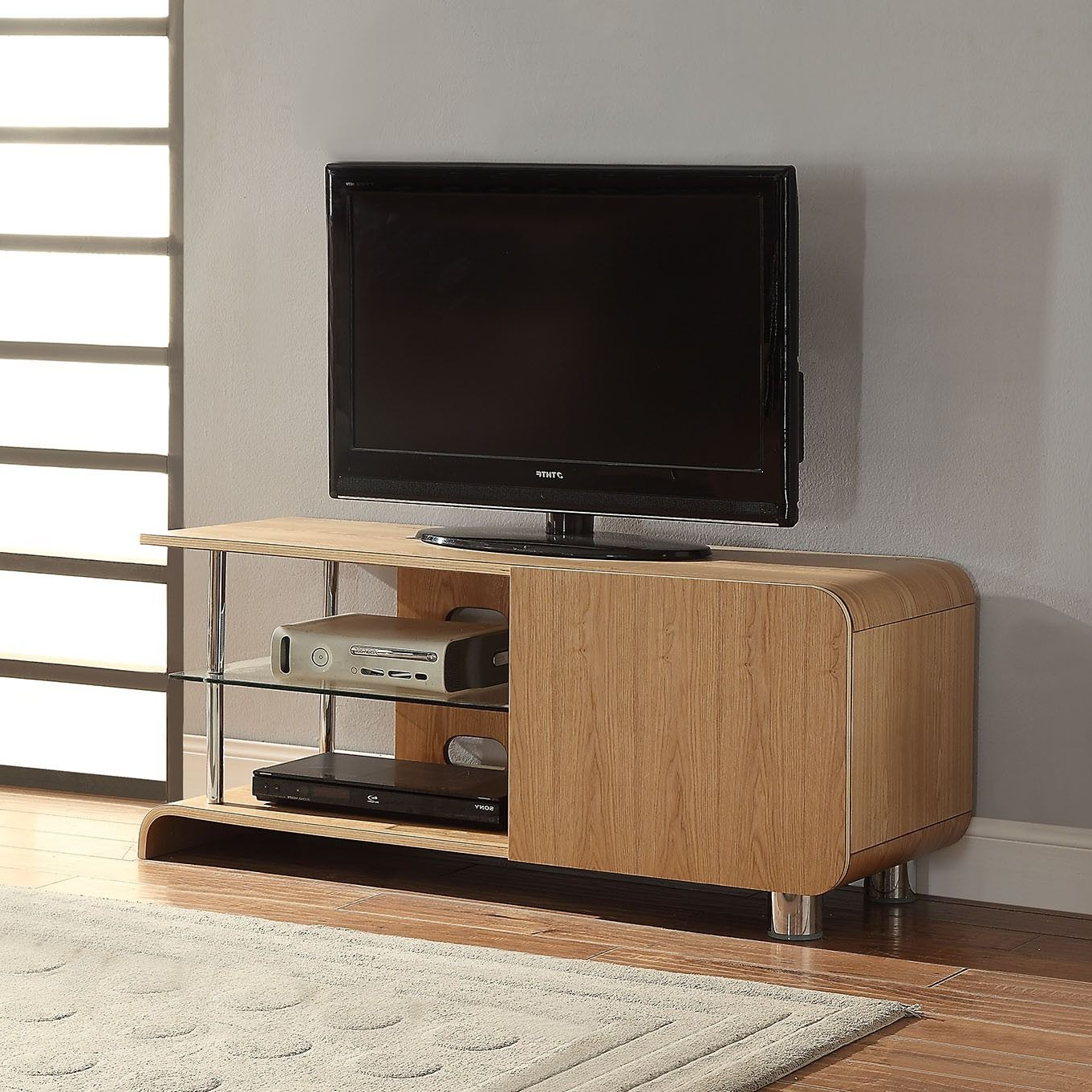 """Most Popular Jual Furnishings Bs202 Ash Tv Stand For Up To 55"""" Tvs With Baba Tv Stands For Tvs Up To 55"""" (View 2 of 25)"""