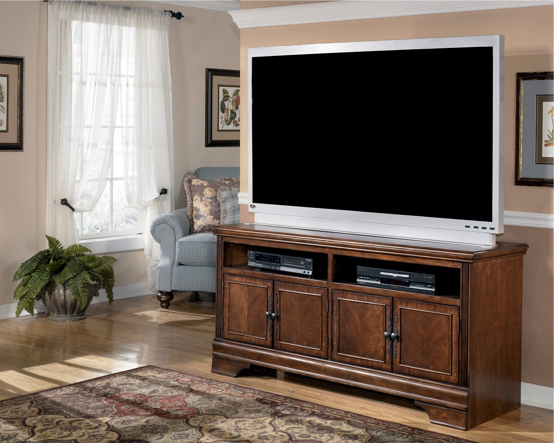"""Most Popular Kasen Tv Stands For Tvs Up To 60"""" Within Hamlyn 60 Inch Tv Stand From Ashley (w527 38) (View 23 of 25)"""