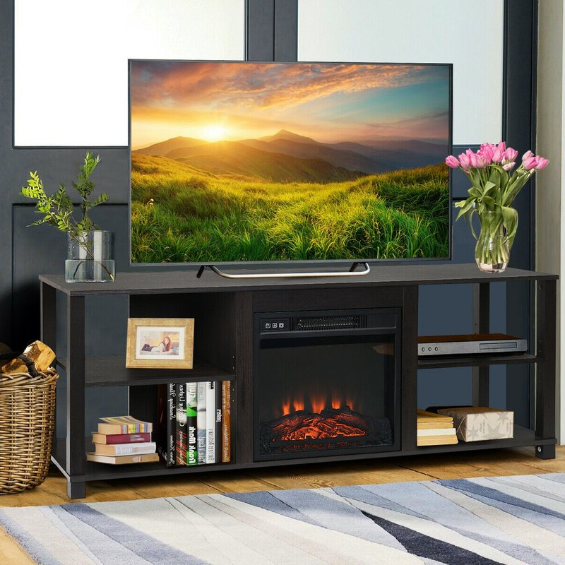 """Most Popular Lorraine Tv Stands For Tvs Up To 60"""" With Fireplace Included For Latitude Run® Breshayla Tv Stand For Tvs Up To 65"""" With (View 16 of 25)"""