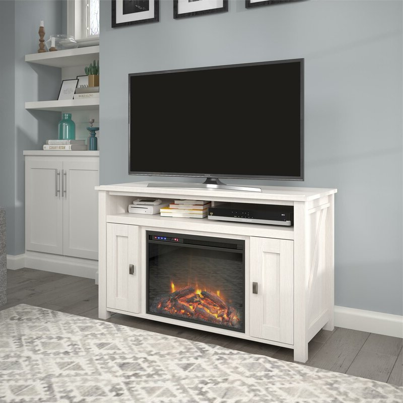 """Most Popular Mistana™ Whittier Tv Stand For Tvs Up To 50"""" With Electric Regarding Chicago Tv Stands For Tvs Up To 70"""" With Fireplace Included (View 11 of 25)"""