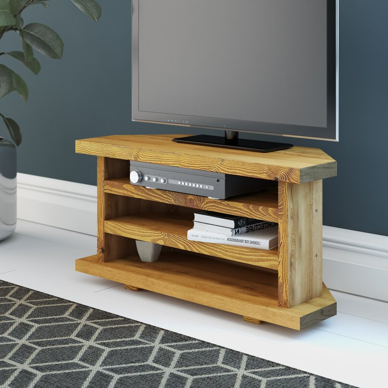 """Most Popular Orrville Tv Stands For Tvs Up To 43"""" For Alpen Home Del City Solid Wood Corner Tv Stand For Tvs Up (View 12 of 25)"""