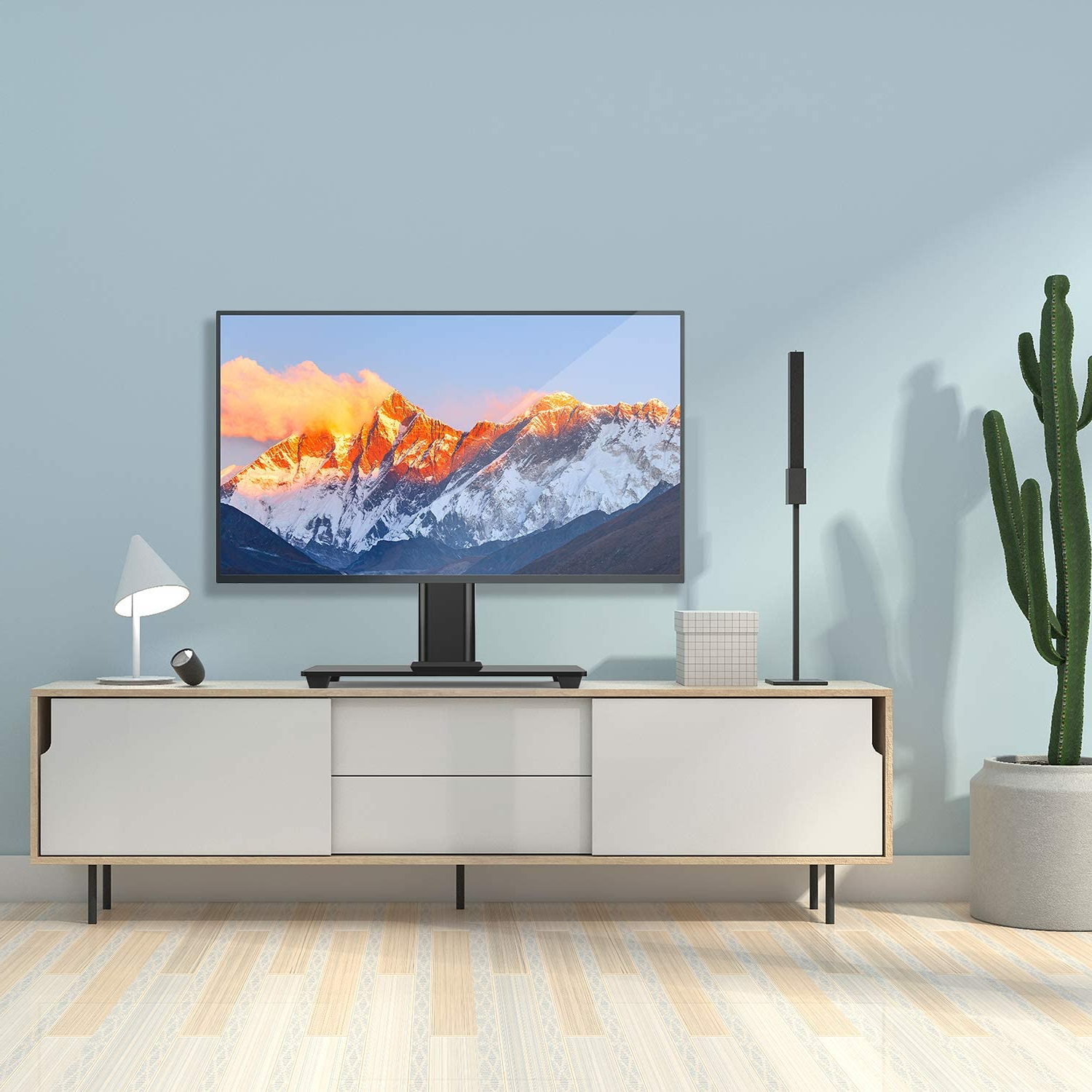 Most Popular Perlesmith Universal Tv Stand Table Top Tv Stand For 37 55 Throughout Polar Led Tv Stands (View 4 of 10)