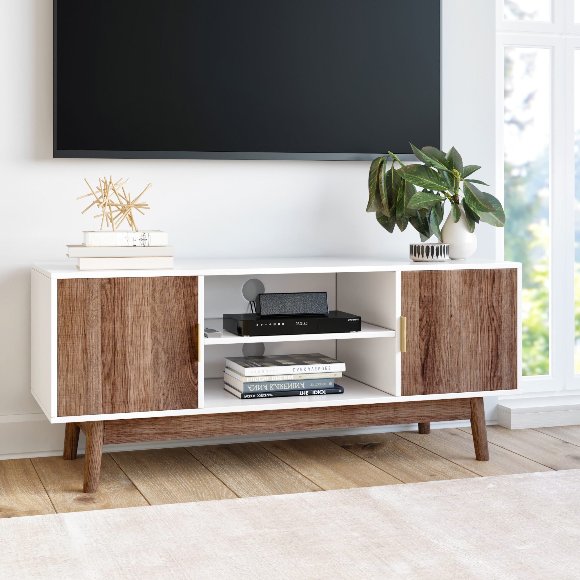Most Popular Petter Tv Media Stands Intended For Nathan James Wesley Scandinavian Tv Stand Media Console (View 4 of 10)