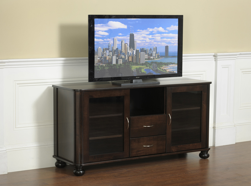 Most Popular Santiago Tv Stands Intended For Metro Tv Stand 579 In Solid Hardwood – Ohio Hardwood Furniture (View 3 of 10)