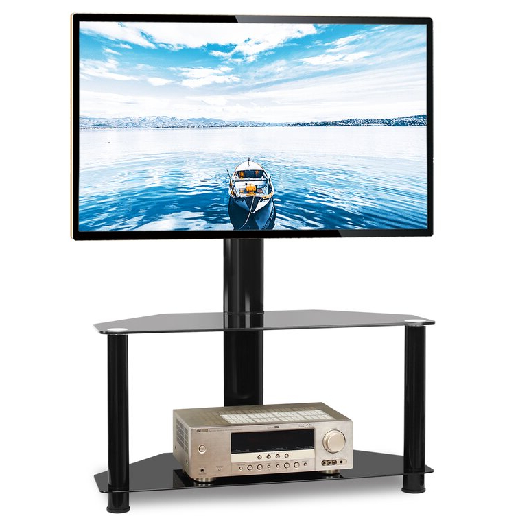 Most Popular Symple Stuff Dicus Symple Stuff Black Swivel Floor Stand With Randal Symple Stuff Black Swivel Floor Tv Stands With Shelving (View 13 of 25)