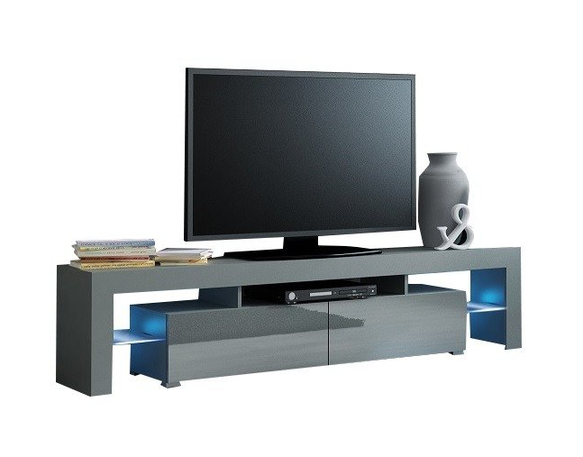 Most Popular Tv Benk Solo Grå Høyglans Med Led 200 Cm In Solo 200 Modern Led Tv Stands (View 6 of 10)