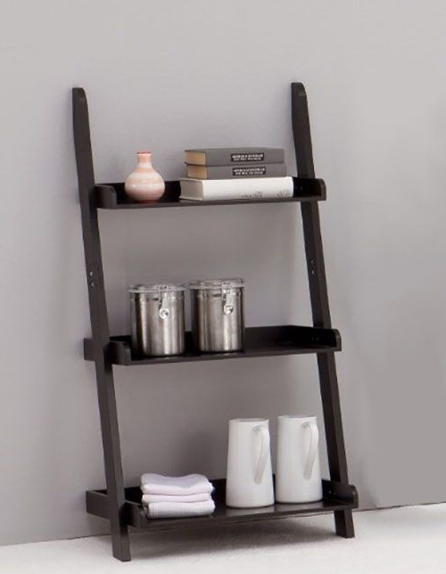 Most Recent 50 Ladder Shelf Image Ideas – White Leaning Ladder With Regard To Tiva White Ladder Tv Stands (View 2 of 10)