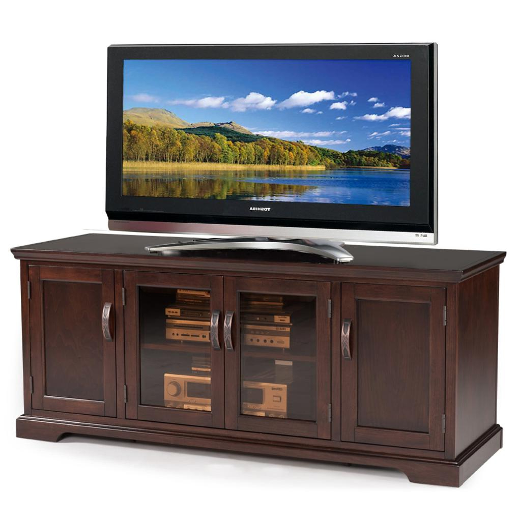 """Most Recent Amazon – Leick Westwood Cherry Hardwood Tv Stand, 60 Pertaining To Adayah Tv Stands For Tvs Up To 60"""" (View 14 of 25)"""