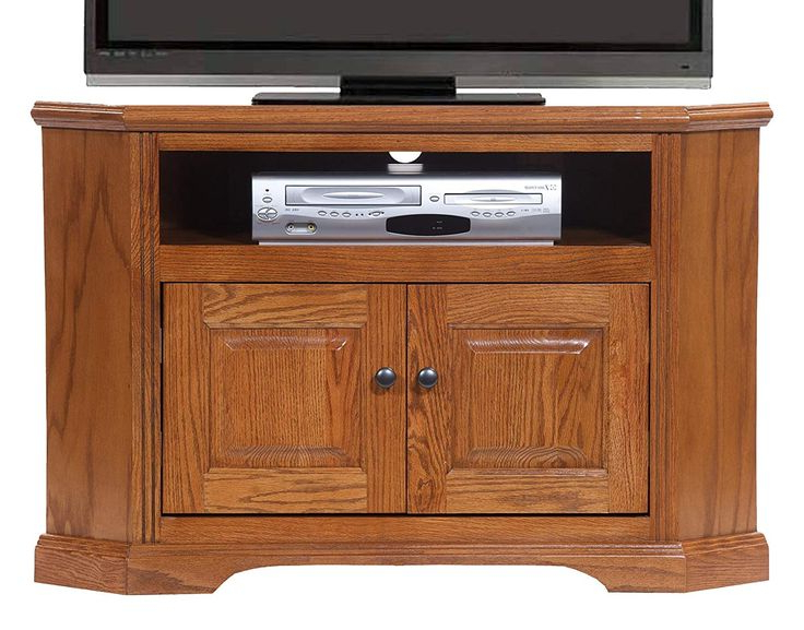 Most Recent American Heartland Oak Corner Tv Stand In Medium (View 6 of 10)