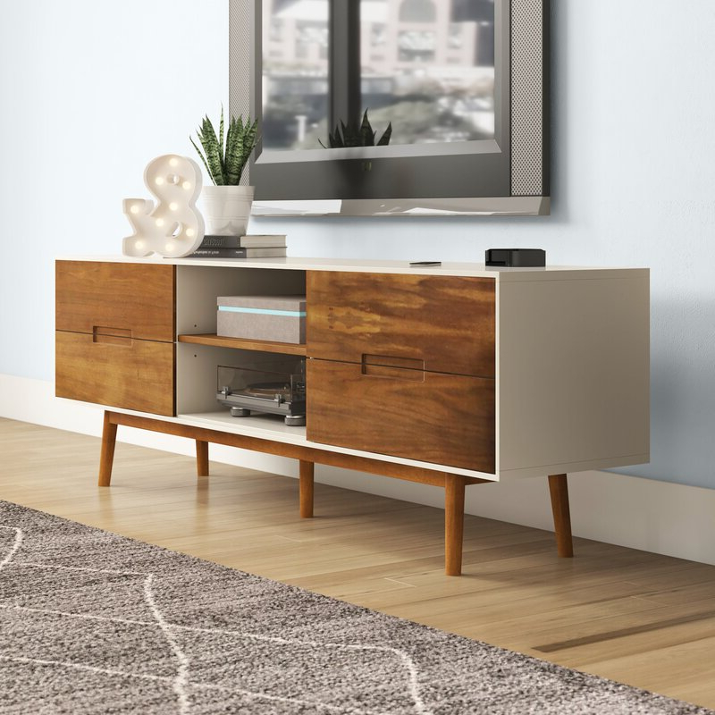 """Most Recent Ansel Tv Stands For Tvs Up To 78"""" Regarding George Oliver Kangley Tv Stand For Tvs Up To 78"""" & Reviews (View 8 of 25)"""