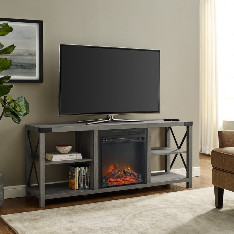 """Most Recent Chicago Tv Stands For Tvs Up To 70"""" With Fireplace Included Within Foundry Select Arsenault Tv Stand For Tvs Up To 65"""" With (View 1 of 25)"""