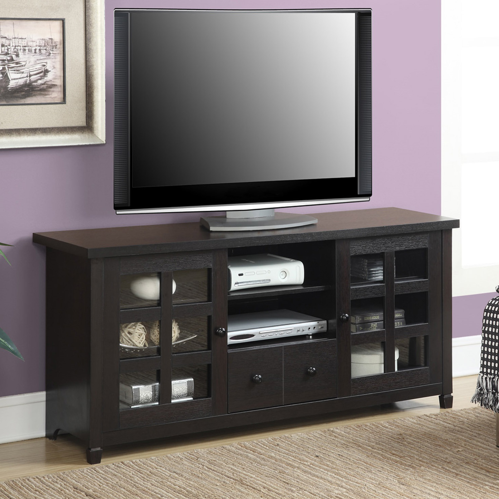 """Most Recent Convenience Concepts Newport Marbella 60"""" Tv Stands In Convenience Concepts Newport Huntington Tv Stand – Tv (View 5 of 10)"""