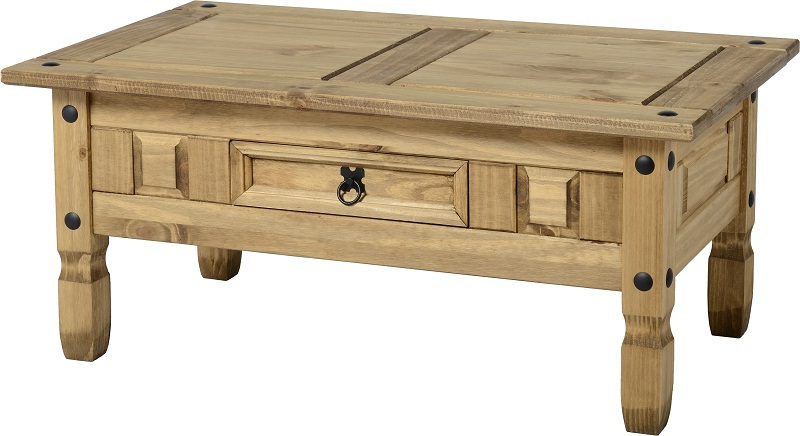 Most Recent Corona Corner Tv Stands For Corona Coffee Table – Distressed Waxed Pine (View 10 of 10)