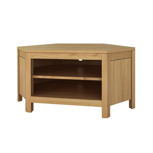 """Most Recent Cotswold Cream Tv Stands For Ealing Oak 2 Shelf Corner Tv Stand – Up To 47"""" (j149) With (View 4 of 10)"""
