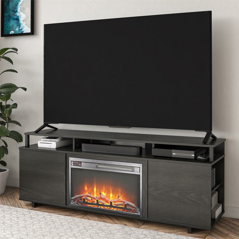 """Most Recent Ebern Designs Chet Tv Stand For Tvs Up To 65"""" With Regarding Rickard Tv Stands For Tvs Up To 65"""" With Fireplace Included (View 15 of 25)"""