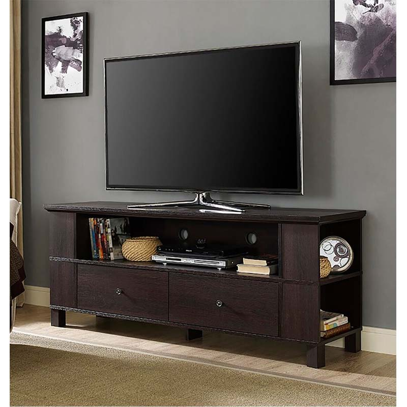 """Most Recent Jowers Tv Stands For Tvs Up To 65"""" Intended For Walker Edison 65 Inch Tv Stand With Multimedia Storage (View 21 of 25)"""