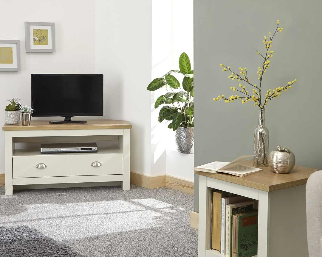 Most Recent Lancaster Cream Corner Tv Unit – One Stop Furniture Online Intended For Lancaster Large Tv Stands (View 6 of 10)