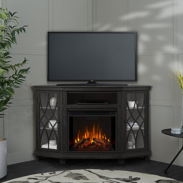 """Most Recent Lorraine Tv Stands For Tvs Up To 60"""" With Fireplace Included Regarding Real Flame Lynette Tv Stand For Tvs Up To 60"""" With (View 18 of 25)"""
