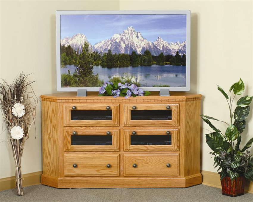 Most Recent Lucy Cane Cream Corner Tv Stands Inside Amish Mulholland Corner Tv Stand (View 3 of 25)