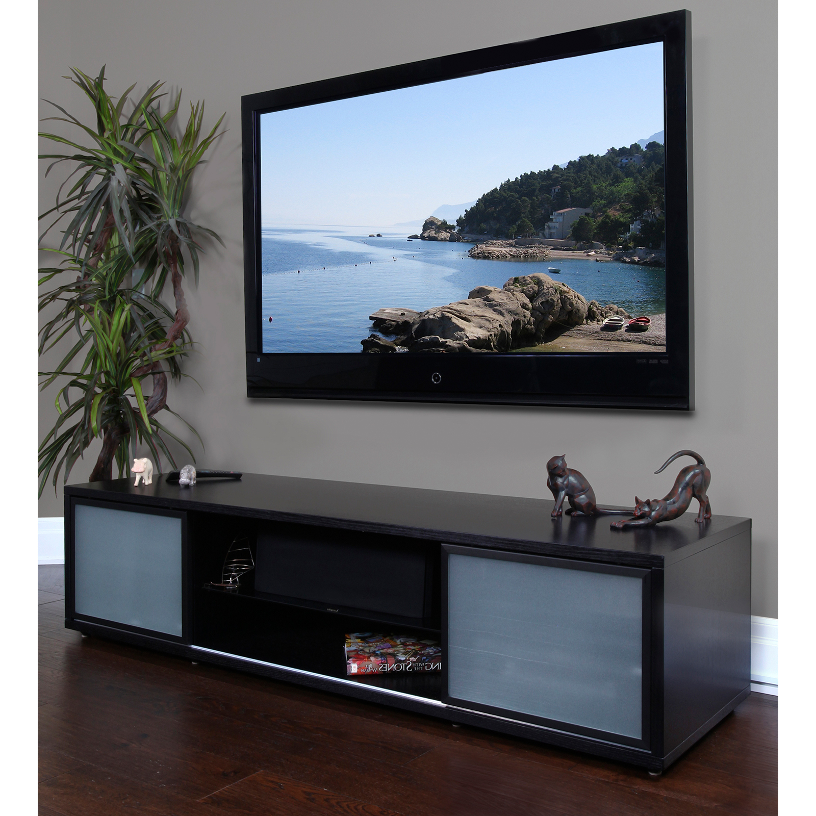 Most Recent Orsen Wide Tv Stands Inside Plateau Srv Series 75 Inch Tv Stand In Black – Do Not Use (View 4 of 25)
