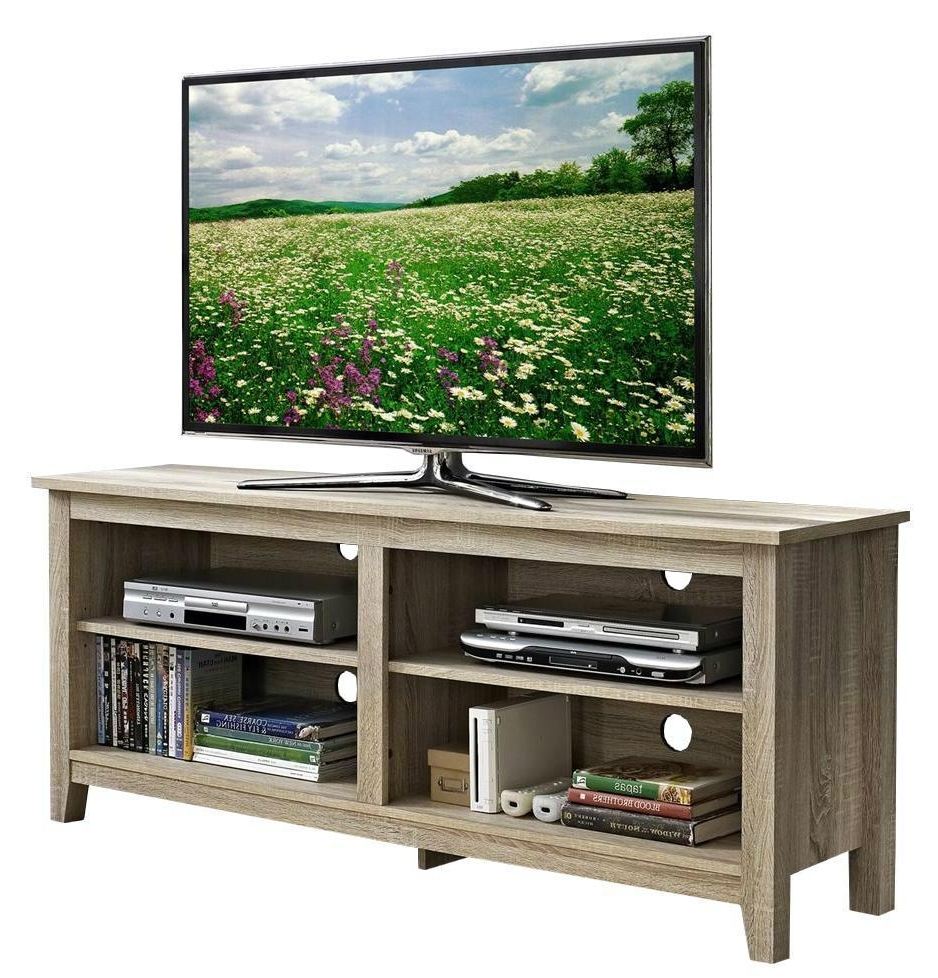 Most Recent Rustic Grey Tv Stand Media Console Stands For Living Room Bedroom For 58 Inch Wooden Reclaimed Grey Media Rustic Tv Stands – Wd (View 10 of 10)