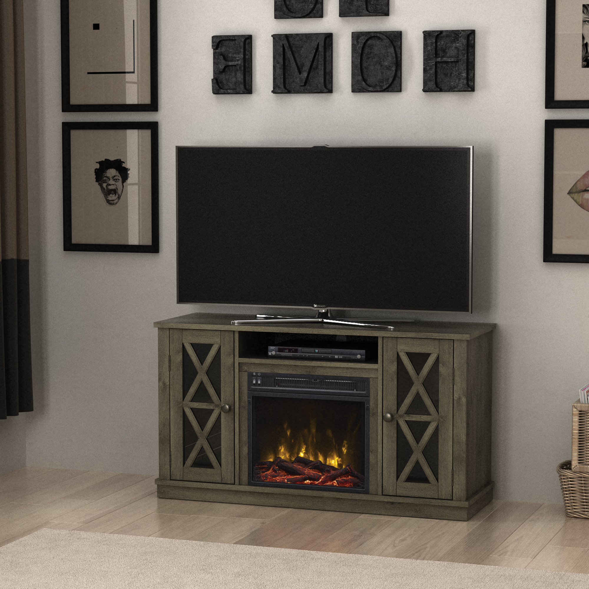 """Most Recent Stanton Ridge Spanish Gray Tv Stand For Tvs Up To 55"""" With For Baba Tv Stands For Tvs Up To 55"""" (View 18 of 25)"""